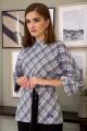 Женский костюм Olegran 3796 голубой_клетка-черный