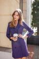 Платье KRASA 132-21 фиолетовый