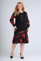 Платье Moda Versal П2211 черный_красный