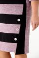Платье Anelli 945 лаванда-черный