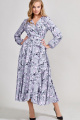 Платье Teffi Style L-1417 сизый