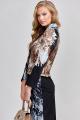 Женский костюм Teffi Style L-1533 черный+кристаллы
