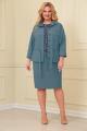 Блуза, Юбка, Жакет VOLNA 1193 бирюзово-голубой