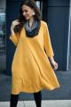 Платье,Шарф Anastasia 495+ шарфик горчица
