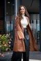 Пальто Anastasiya Mak 929 коричневый