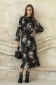 Платье ARTiMODA 321-12 черный_принт_цветы