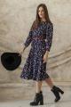 Платье ARTiMODA 321-03 синий_принт_цветы