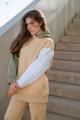 Худи Rawwwr clothing 127-начес бежевый-оливковый-белый
