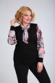 Блуза SOVITA M-107 розово-серый_принт