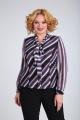 Блуза SOVITA M-110 черно_розовый_полоска