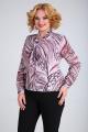 Блуза SOVITA M-110 розово_бордовый_принт