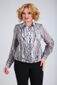 Блуза SOVITA M-105 серо_черный_принт