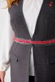 Брюки, Жилет Anelli 541 серый+красный