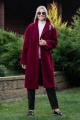 Пальто Achosa 1641 бордовый