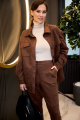 Женский костюм Anastasiya Mak 944 коричневый