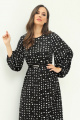 Платье Магия моды 1974 черно-белый