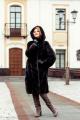 Пальто Мехофф Лада105.222-521 темно-коричневый