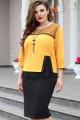 Платье Vittoria Queen 14403 желтый-черный