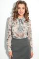Блуза LeNata 11589 на-бежевом-цветы