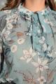 Блуза LeNata 11589 на-зеленом-цветы
