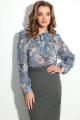 Блуза LeNata 11589 на-синем-цветы