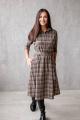 Платье KRASA 154-21 коричневая_клетка