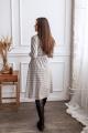 Платье KRASA 154-21 бежевая_клетка
