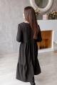 Платье KRASA 216-21 серый/мелкая_клетка