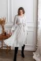 Платье KRASA 275-21 белый/сердечки