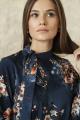 Платье ARTiMODA 321-12 синий_принт_ цветы