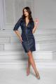 Платье DoMira 01-571 темно-синий