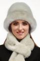 Шапка Зима Фэшн 066-1-05 молочно-серый_под_норку
