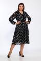Платье Lady Style Classic 2316 черный-белый_горох