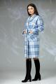 Пальто Angelina & Сompany 603 серо-голубой_клетка