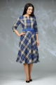 Платье Angelina & Сompany 614 синяя_клетка