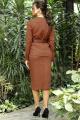 Женский костюм Мода Юрс 2703 коричневый