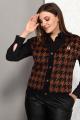 Жилет, Рубашка Karina deLux М-9936К коричнево-черный