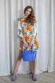 Платье ARTiMODA 321-10 белый_принт_цветы