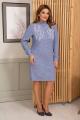 Платье Olegran 3818 голубой