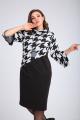Платье Vilena 678 гусиная_лапка+черный