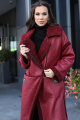 Пальто Мода Юрс 2715 бордовый