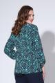 Блуза Liona Style 811Б бирюза/синий