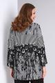 Блуза Viola Style 1133 черный_с_серым