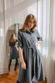 Платье KRASA 184-21 серая_гусиная_лапка
