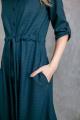 Платье KRASA 184-21 сине-зеленая_гусиная_лапка