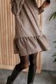 Платье KRASA 277-21 коричневая_гусиная_лапка