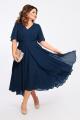 Платье TEZA 1455 темно-синий