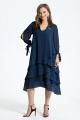 Платье TEZA 1461 темно-синий