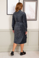 Платье Olegran 3816 изумрудно-серый