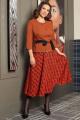 Женский костюм Мода Юрс 2520-2 терракот